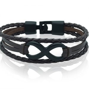 Sunrise Brown Infinity Mens Bracelet