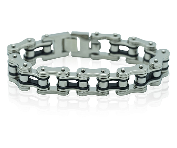 Dorsey Stainless Steel Bike Bracelet
